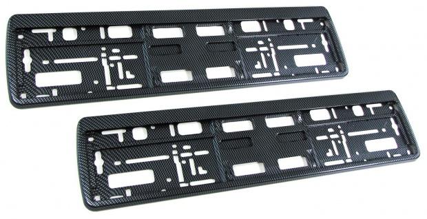 Nummernschild Kennzeichen Verstärkung Unterlage Carbon Look TYP 2 Set