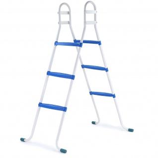 Poolleiter mit 3 blauen Stufen bis 105cm für Bestway Intex Pool Swimmingpool