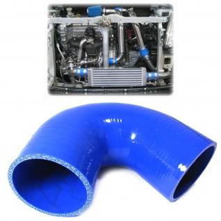 Performance Silikonschlauch blau Winkel 102/102mm 135° Ø 76mm