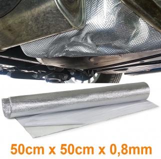 Auspuff Thermo Hitzeschutz Matte Alu Keramik Selbstklebend 0, 8mm 50cmx50cm 500°c - Vorschau 1