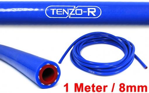 Tenzo-R Performance Silikon Schlauch verstärkt Länge 1M blau 8mm