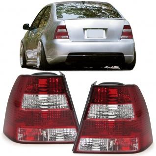 Klarglas Rückleuchten Kristall chrom Paar für VW Bora Limousine 98-05