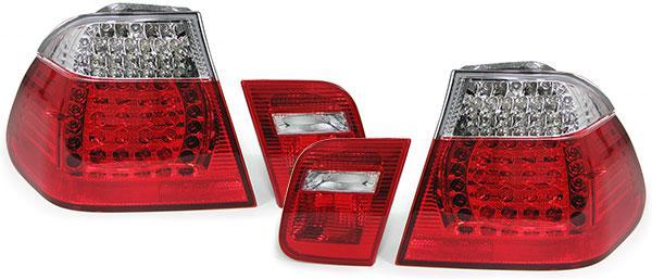 LED Rückleuchten rot klar Facelift Optik für BMW 3ER E46 Limousine 98-01 - Vorschau 3