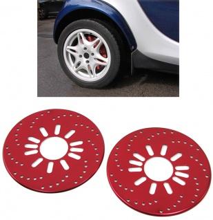 Bremsscheiben Attrappen universell Paar rot