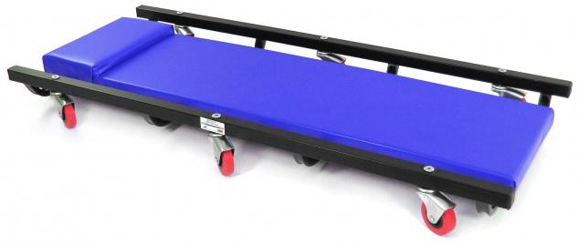 Ramroxx Profi Werkstatt Rollbrett Montageliege Gepolstert 100cm blau schwarz