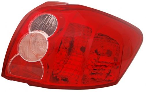 Rückleuchte / Heckleuchte rechts TYC für Toyota Auris E15 06-10
