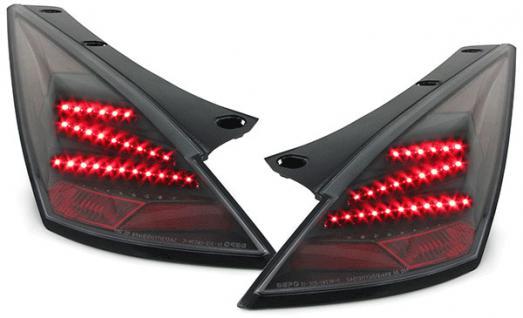 Klarglas LED Z Rückleuchten schwarz für Nissan 350Z Z33 02-08