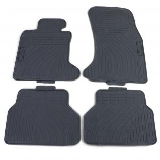 Premium Gummi Fußmatten Set 4-teilig Schwarz für BMW 5er E60 E61 03-10