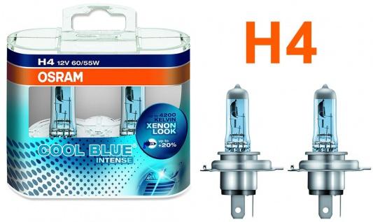 Osram Cool Blue Intense H4 60/55W 12v Halogen 2 Stück IM Duopack