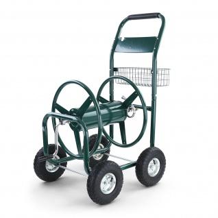 Schlauchwagen Schlauch Handwagen mit Handkurbel Grün bis 106m Gartenschlauch