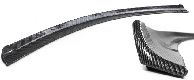 Heckspoiler Lippe Streifen zum kleben universal flexibel Carbon Look