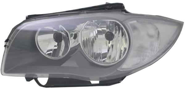 H7 / H7 Scheinwerfer schwarz links TYC für BMW 1ER E82 E88 09-11