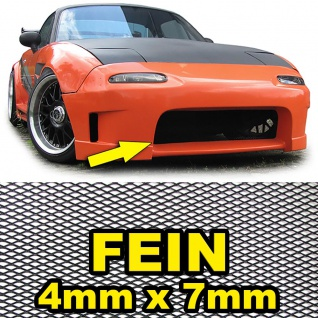 Aluminium Gitter Renngitter Wabengitter Racegitter 130X30cm 4x7mm Schwarz