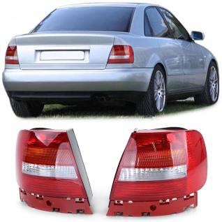 Facelift Rückleuchten Rot Weiss Paar Links Rechts für Audi A4 B5 Limousine 99-00