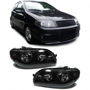 H7 H1 Scheinwerfer schwarz - Paar für FIAT Punto 03-05