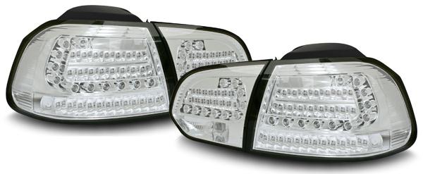LED Rückleuchten mit LED Blinker chrom für VW Golf 6 Limousine
