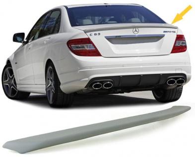 Heck Spoiler Spoilerlippe Sport Look für Mercedes C Klasse W204 Limousine