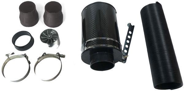 Echt Carbon Airbox Sport Luftfilter Cold Air Intake universal Set