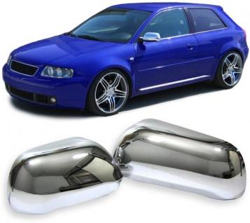 Spiegel kappen cover abdeckungen chrom f r audi a3 a4 a6 for Audi a6 breite mit spiegel