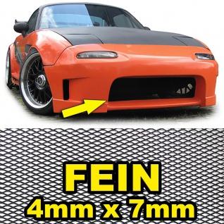 Aluminium Gitter Renngitter Wabengitter Racegitter 150X30cm 4x7mm Schwarz