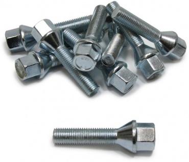 10 Radbolzen Radschrauben Kegelbund M12x1, 5 39mm