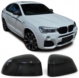 Echt Carbon Spiegelkappen für BMW X3 F25 X4 X5 F15 X6 F16