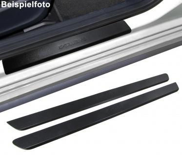 Edelstahl Trittschutz Einstiegsleisten Exclusive schwarz für Citroen C2 ab 03