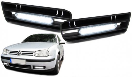 LED TAGFAHRLEUCHTEN TAGFAHRLICHTER MIT RAHMEN FÜR VW Golf 4 - Vorschau