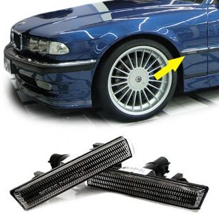 Seitenblinker schwarz smoke für BMW 7er E38 ab 1994