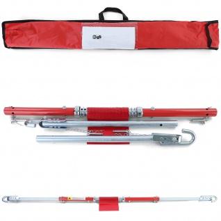 PKW KFZ Auto Sicherheits Abschleppstange mit Dämpfer und Tasche Rot 2T 1.8m