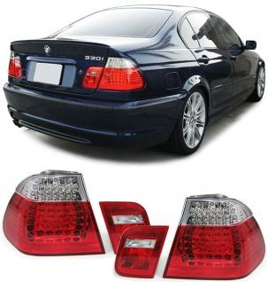LED Rückleuchten rot klar Facelift Optik für BMW 3ER E46 Limousine 01-05