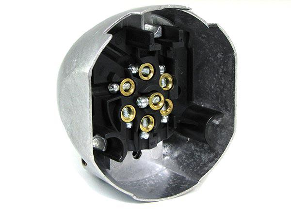 auto anh nger adapter stecker universal alu 7 polig f r. Black Bedroom Furniture Sets. Home Design Ideas