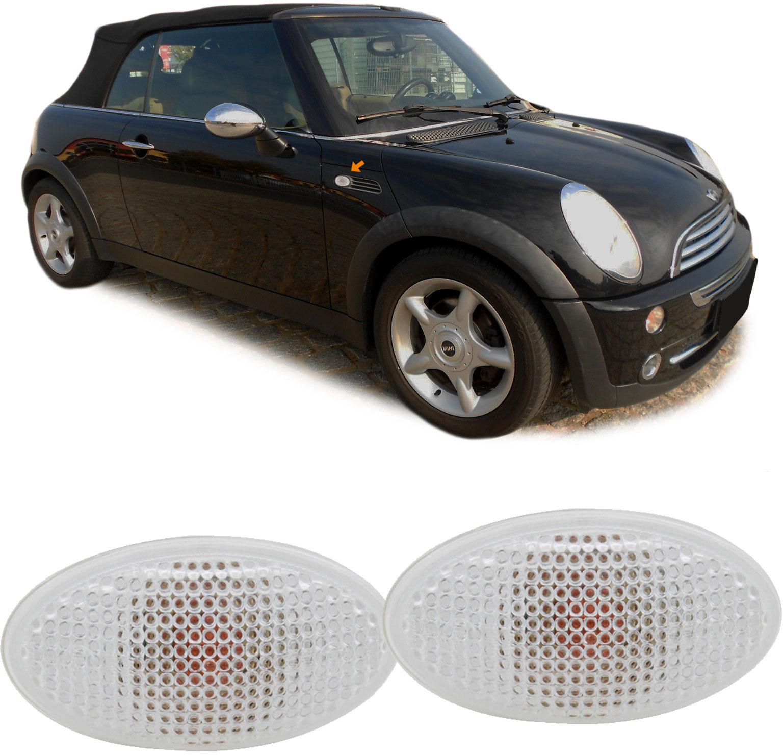 Seitenblinker Weiß Paar Für Mini Cooper One Cabrio R 50 52 53 01