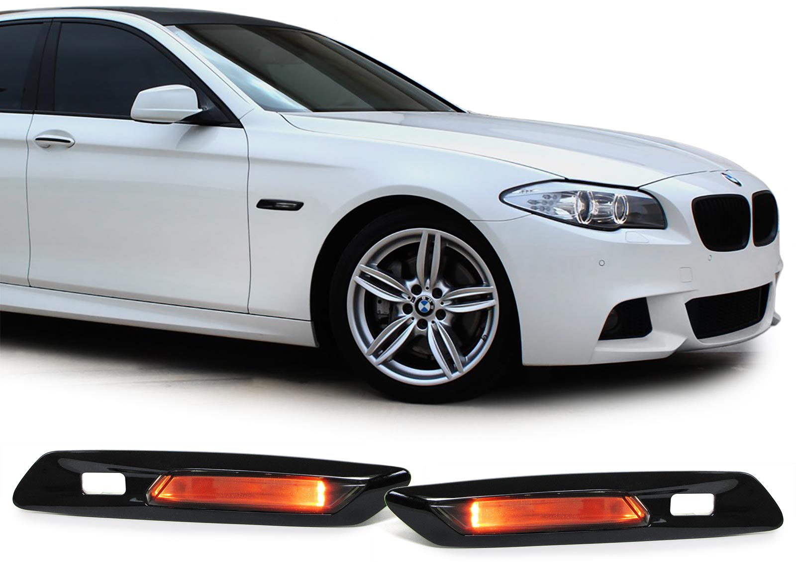 klarglas led seitenblinker schwarz smoke f r bmw 5er f10. Black Bedroom Furniture Sets. Home Design Ideas