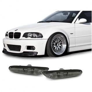 Seitenblinker schwarz smoke für BMW 3ER E46 00-01 5er E60 E61 03-10 X3 E83 04-10 - Vorschau 2