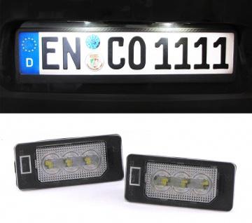 LED Kennzeichenbeleuchtung High Power weiß 6000K für Audi Q5 Typ 8R ab 08