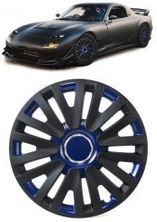 Radkappen Radzierblenden Tenzo-R X für Stahlfelgen 14 Zoll schwarz blau - Vorschau 2