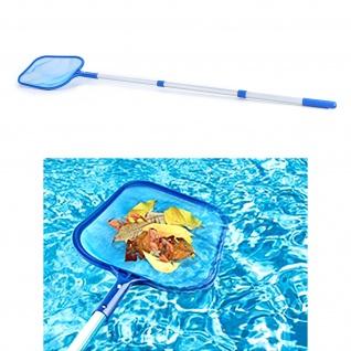 Telekop Poolkescher Laubkescher Aluminium für Swimmingpool Whirlpool