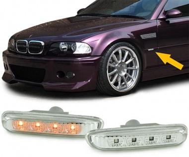 LED Seitenblinker chrom für BMW 3ER E46 Coupe Cabrio Limousine Touring 98-01