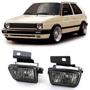 Klarglas Nebelscheinwerfer schwarz für VW Golf 2 GL