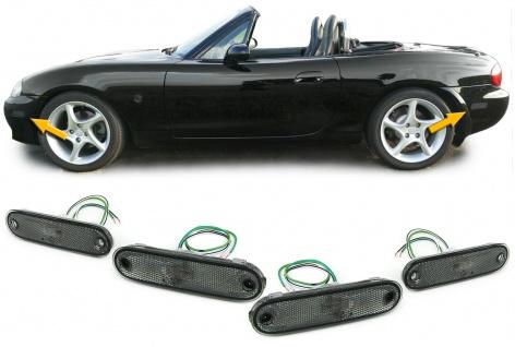 Seitenmarkierungsleuchten Reflektoren schwarz smoke Set für Mazda MX5 89-05