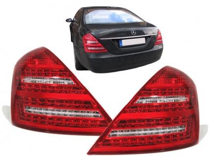 LED Rückleuchten rot klar Facelift Optik für Mercedes S Klasse W221 05-09