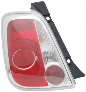 Rückleuchte / Heckleuchte links TYC für FIAT 500 07-