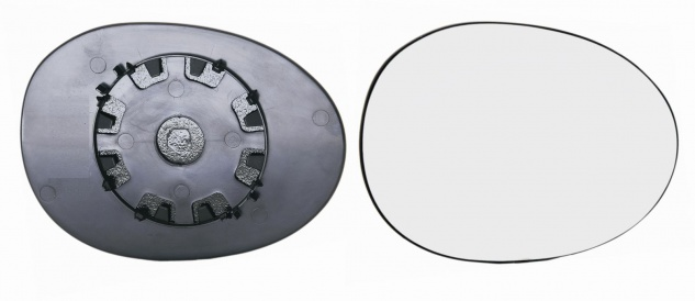Spiegelglas rechts für Peugeot 107 05- - Vorschau