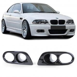 Echt Carbon Nebelscheinwerfer Blenden mit Lufteinlass für BMW 3er E46 M3 98-05