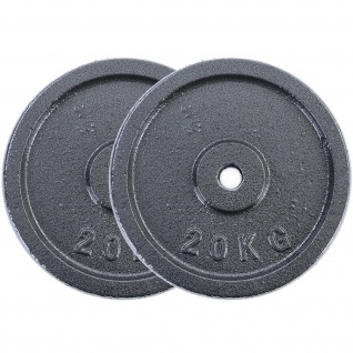 40 kg Hantelscheiben Set 2x20 kg Gusseisen Hantel Gewicht versiegelt 30mm