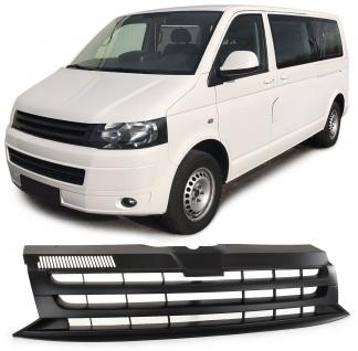 Sport Kühlergrill ohne Emblem schwarz für VW Bus T5 Facelift 09-15