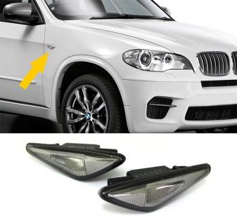 LED Seitenblinker schwarz smoke für BMW X3 F25 + X5 E70 LCI + X6 E71