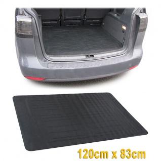 Universal Kofferraummatte Schutzmatte Gummi 120X83 CM