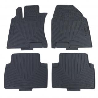Premium Gummi Fußmatten Set 4-teilig Schwarz für Nissan Qashqai J10 JJ10 07-16